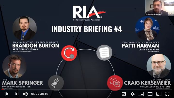 RIA Industry COVID-19 Briefing 4